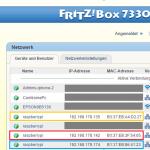 Beispiel: Fritz!Box Mini-Server IP-Adressen