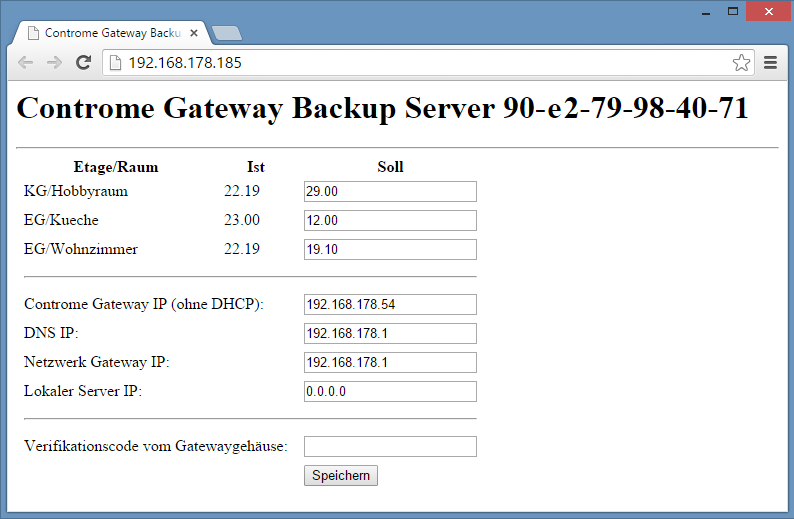 Gateway-Backup-Seite