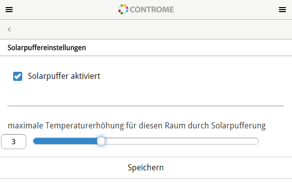 Solarpuffer-raum